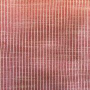 Viskestykke rød m. smal hvid strib