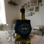 Sild & Snaps serviet sat på flaske