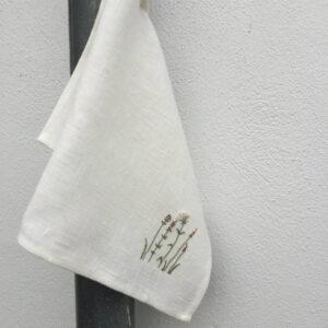 Tille's, Gæstehåndklæde m. Sommerblomster