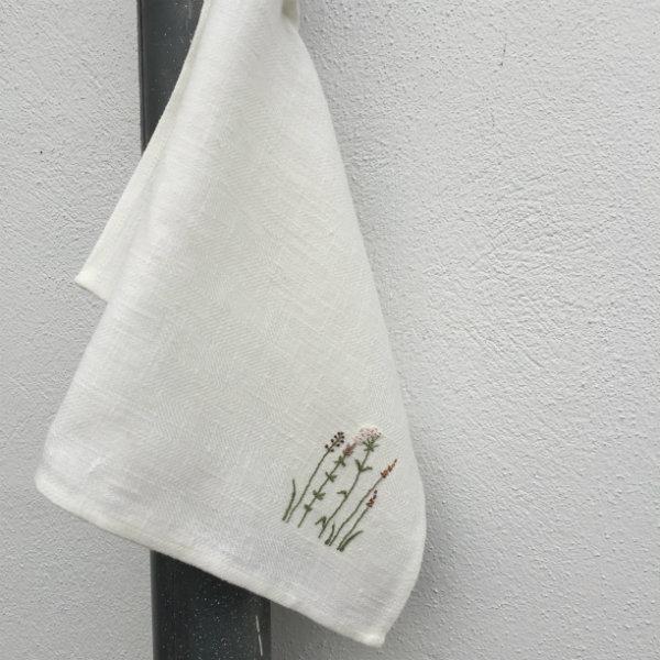 Gæstehåndklæde m. Sommerblomster