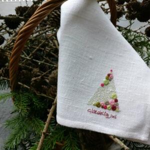 Tille's, Gæstehåndklæde m. Julehilsen