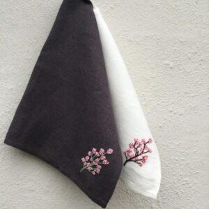 """Tille's, Gæstehåndklæde - """"Kirsebærgren"""""""