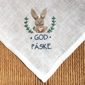Tille's, Serviet med påskehare, broderikit