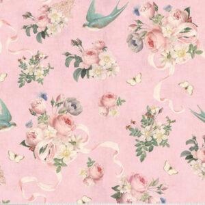 Riley Blake, stof i 100% bomuld, Blush Rose And Violet's Garden Main