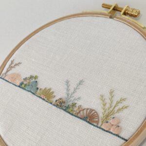 Broderet Blomsterlinje Stitch along/kursus