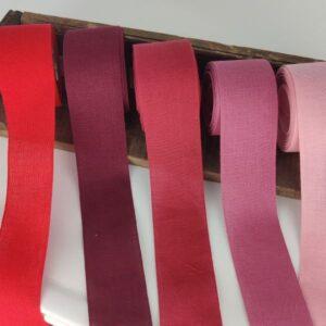 Hørbånd, 60 mm, Røde nuancer, 11 tr.